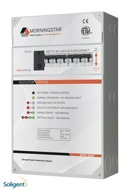 Morningstar Corp:Morningstar, Ground Fault Protection Device, 2-Pole,  600V, 50A, GFPD-600V