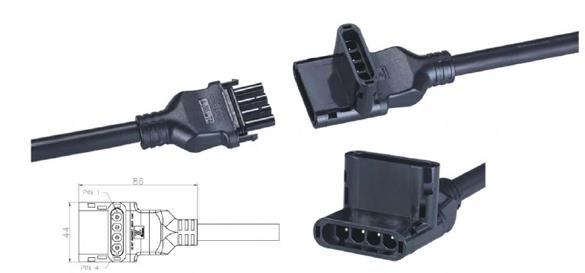 "Chilicon Power LLC: Chilicon, Modular Trunk Cable, AWG 10, 1.7m (~67"") for 60 Cell Landscape Modules, MTC-1.7"