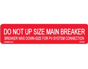 Hellermann 03-336 Main Breaker Label Pack