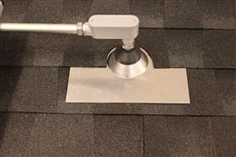 Quick Mount PV: Conduit Penetration Flashing for Comp Shingle Roofs -  Mill Finish (QMCPC)