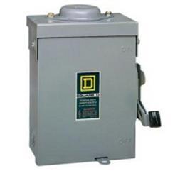 Square D:AC Disconnect, 30A, NEMA 3R (D221NRB)