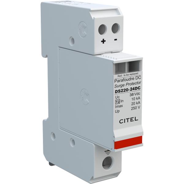 Citel DS220-24DC DIN Mount 24VDC Surge Protector
