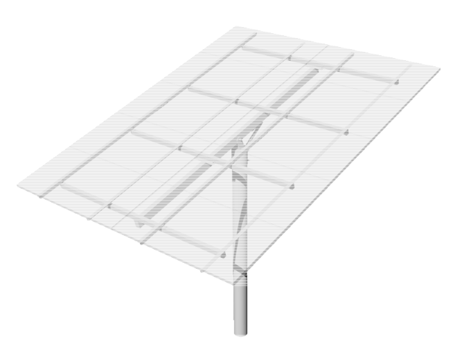 DPW TPM12-H Top-of-Pole Mount for 12 Type-H Modules