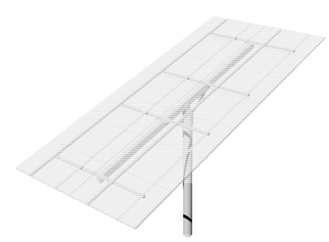 DPW TPM14-G Top-of-Pole Mount for 14 Type-G Modules