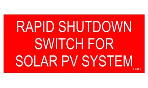 Hellermann 02-316 Rapid Shutdown Label Pack