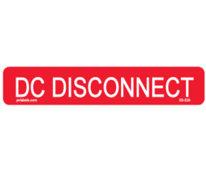 Hellermann 03-324 DC Disconnect Label Pack