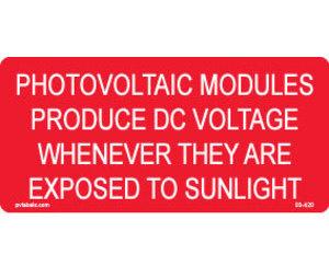 Hellermann 03-420 PV DC Voltage Label Pack