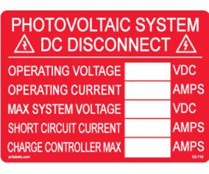 Hellermann 596-00241 DC Dis Info Label