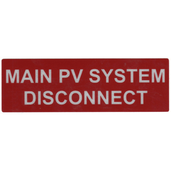 Hellermann 596-00243 Main PV System DC Label