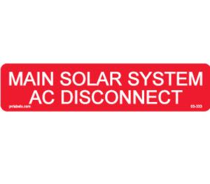 Hellermann 596-00255 AC Disconnect Label Pack