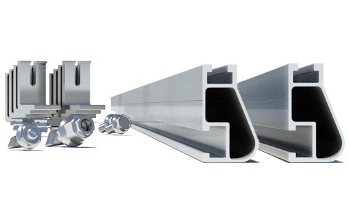 IronRidge BX-CMA-SI-M1 String Mounting Kit w/ Rails & HW