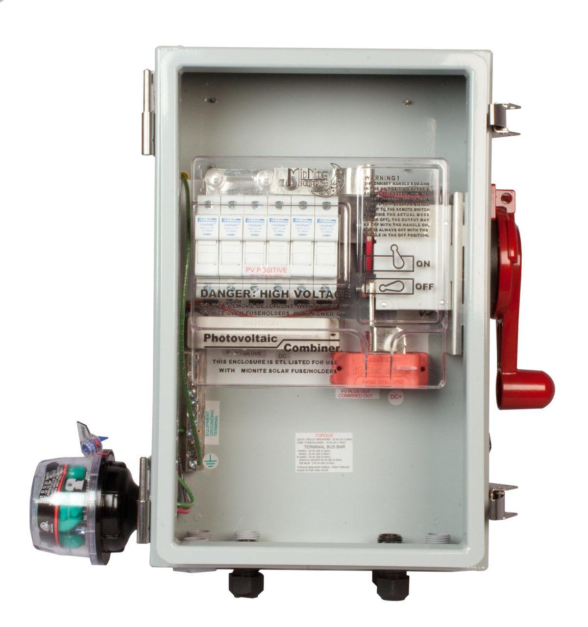 MidNite Solar MNPV6HV Disco 4X Combiner Box w/ Disc