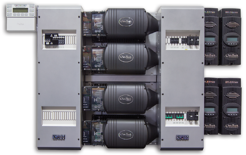 OutBack FLEXpower Four FP4 VFXR3048E Pre-Wired AC/DC System