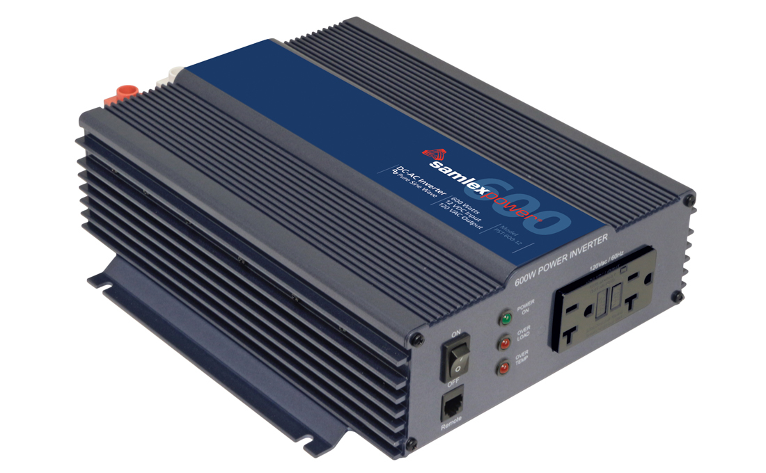 Samlex PST-600-12 Pure Sine Wave 600w Battery Inverter
