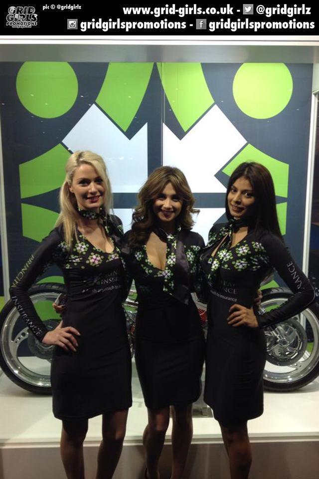 Principal Insurance Girls at London Motorcycle Show