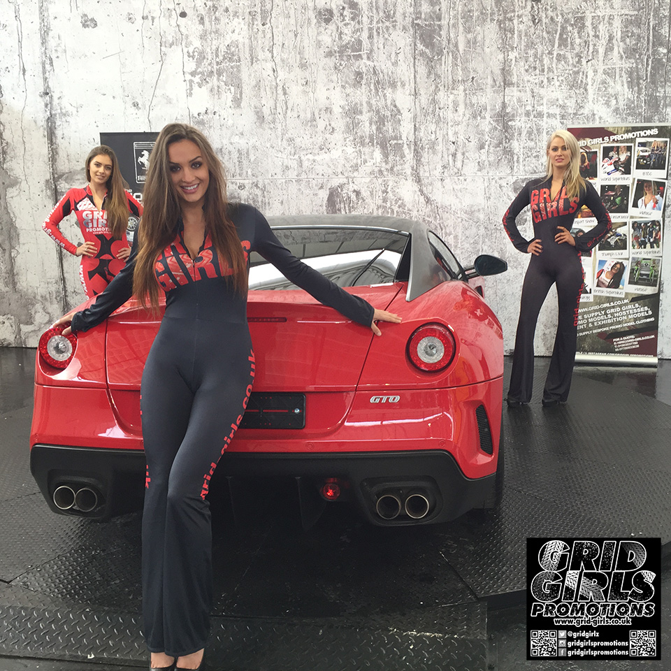 Grid Girls Promotions at Supercar Rooms Shoot