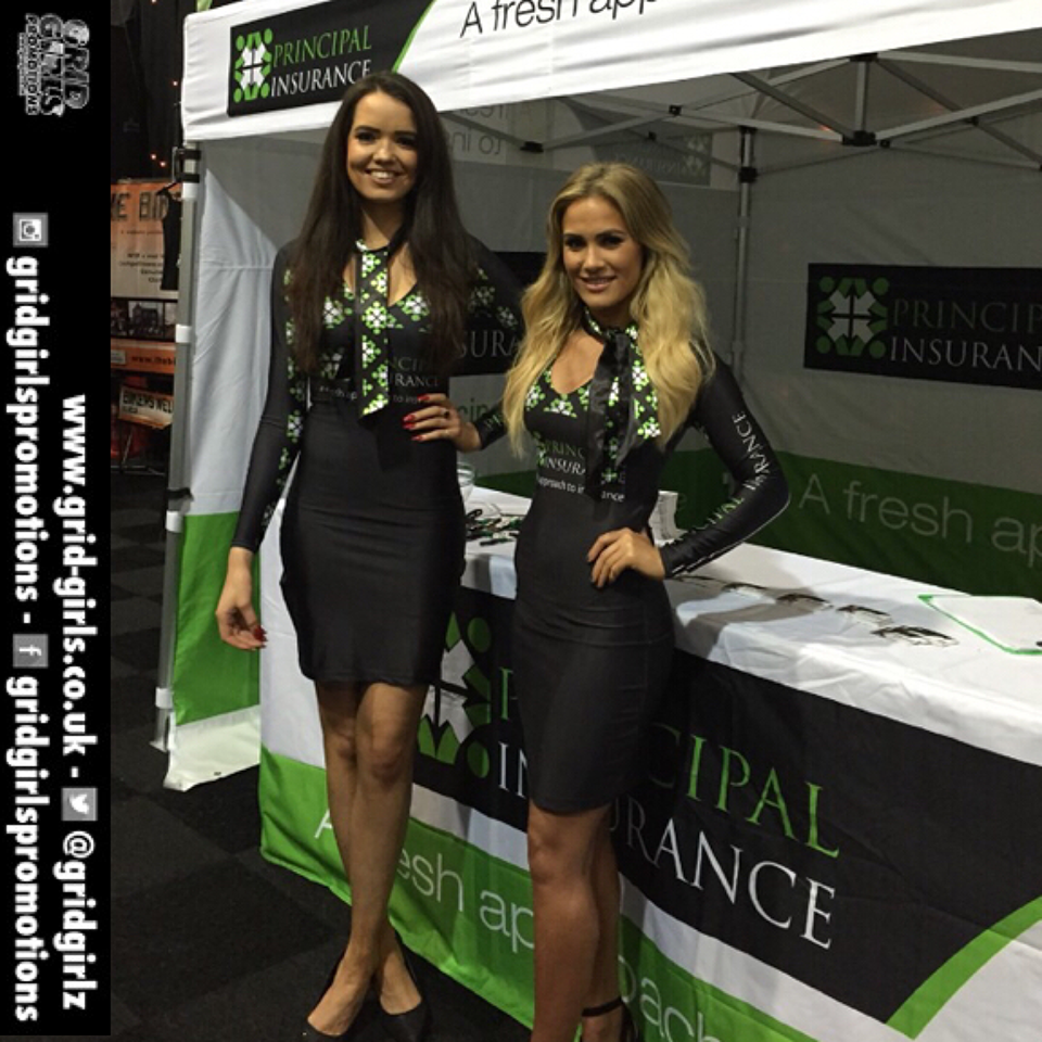 Principal Insurance Girls at the Manchester Motorcycle Show 2015