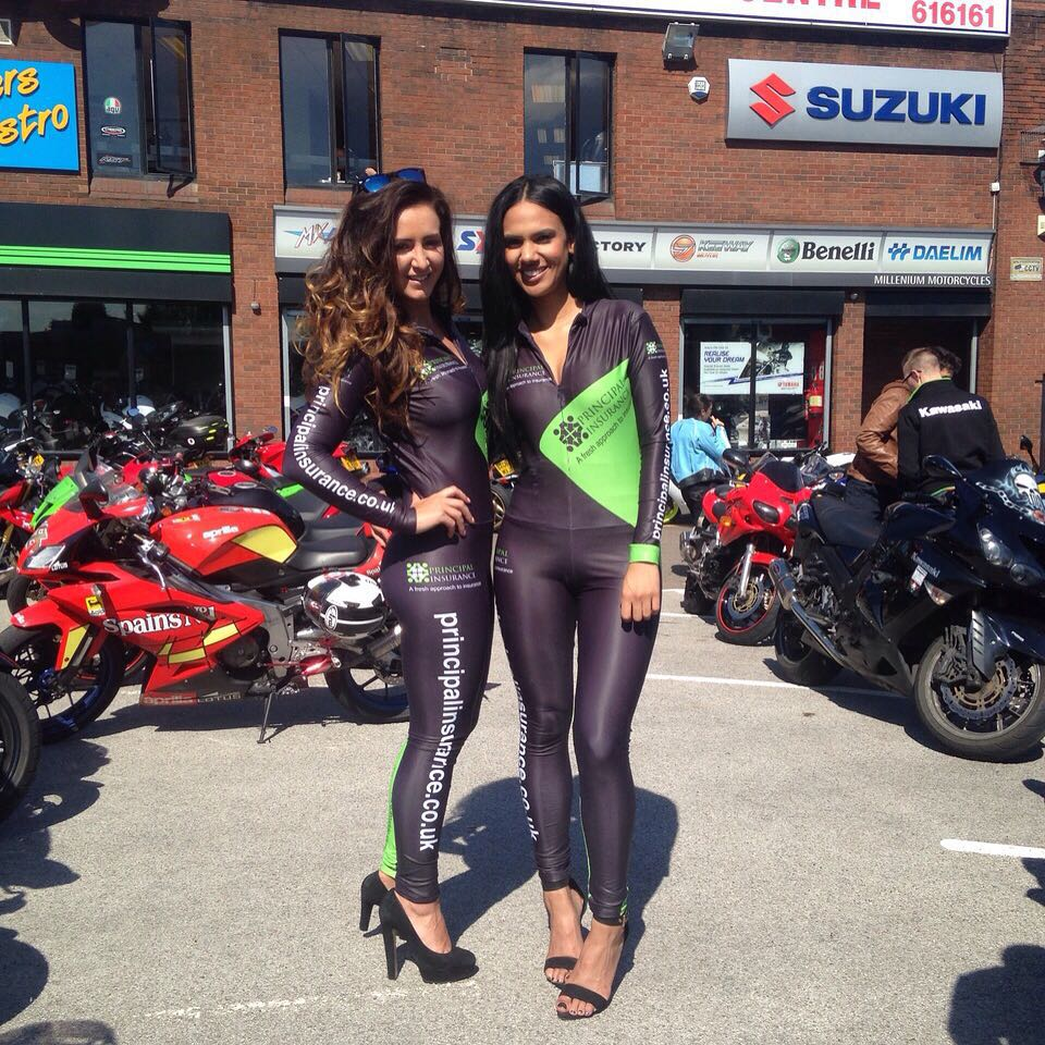 Principal Insurance Girls at the Millenium Motorcycles Open Day