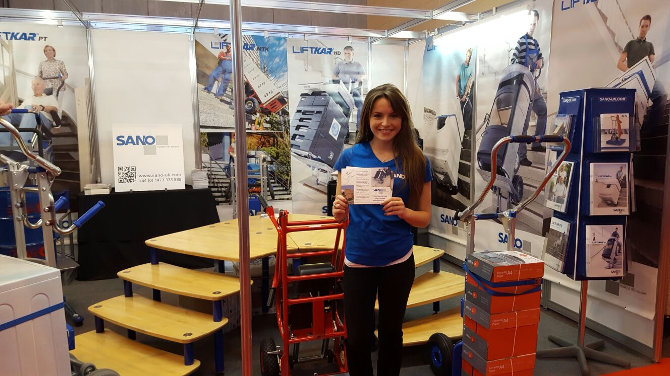 Promo Model With Sano Uk At The Commercial Vehicle Show 2016 01