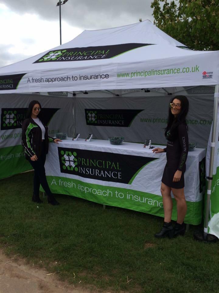 Principal Insurance Girls at the MCN Festival of Motorcycling 2016