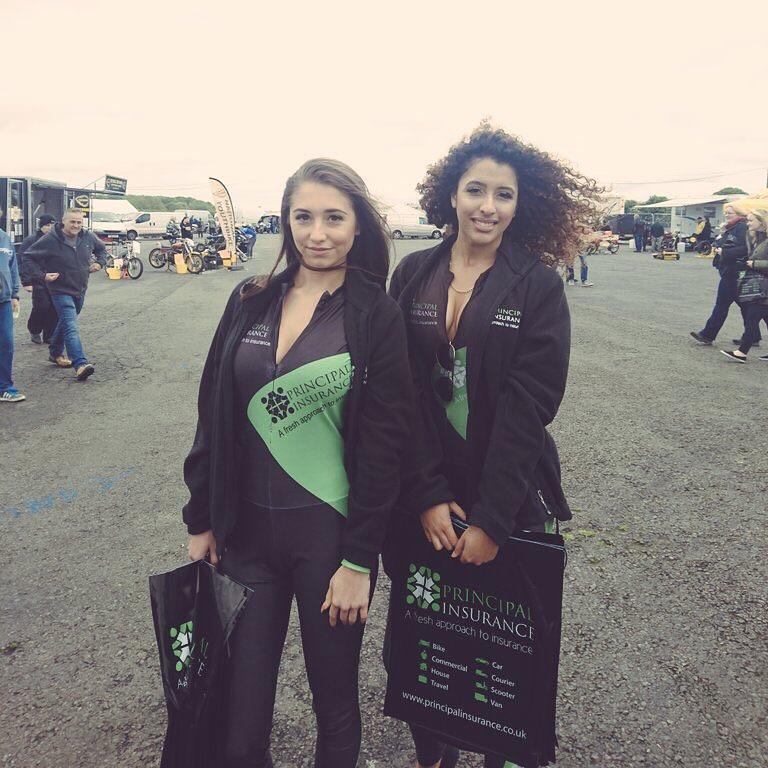 Principal Insurance Girls at the Race, Rock 'N' Ride Santa Pod Show