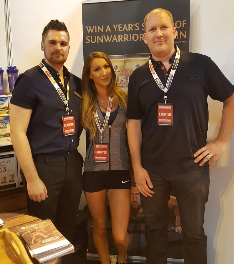 Promo Model with Global by Nature at the NEC Body Power Expo 2016