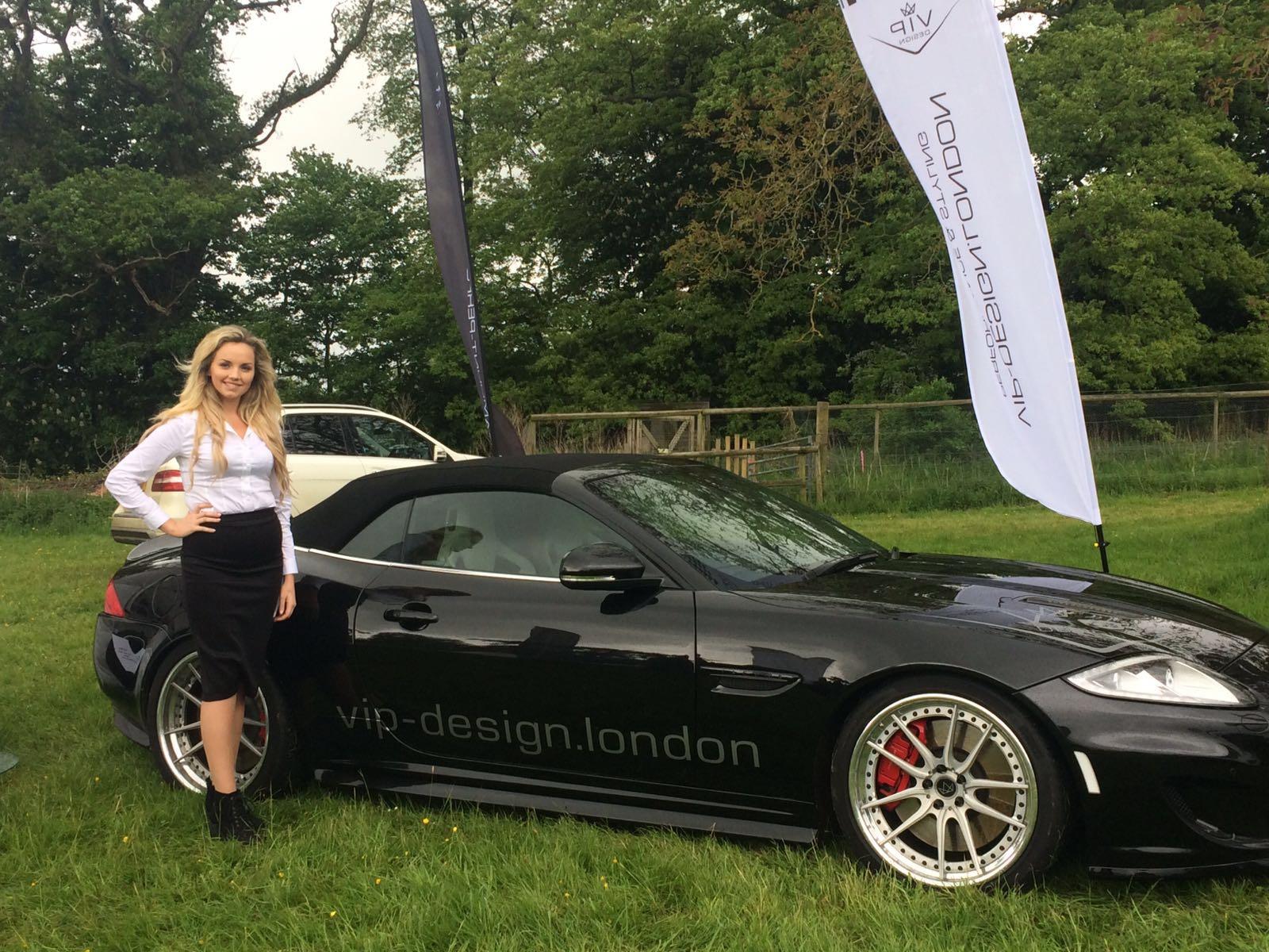 Promo Model – VIP Design London – Cotswold Jaguar Festival at Sudely Castle
