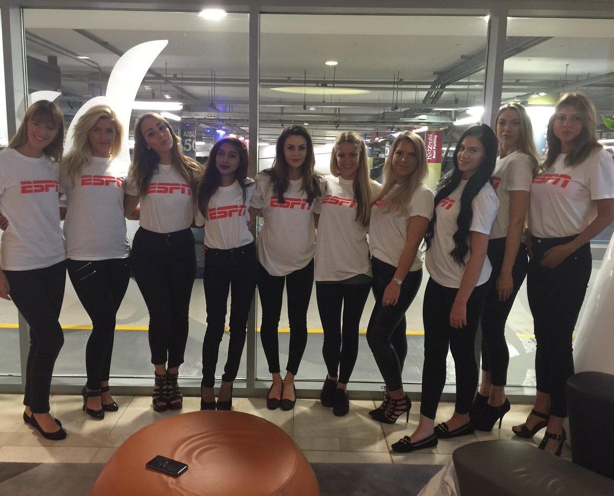 30 Promo Models with ESPN UK Square Pie Media Drop – London 2016