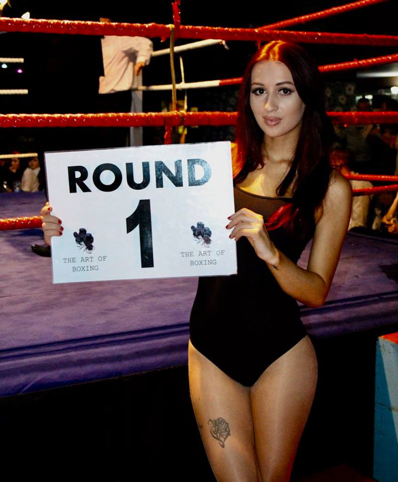 Ring Girl – Art of Boxing – White Collar Boxing – 11th December 2016