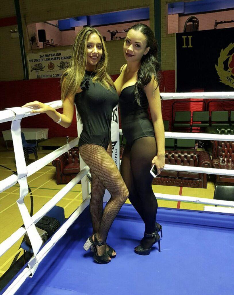 Ring Girls 2nd Lancs Army Boxing Preston 26th Oct 2017