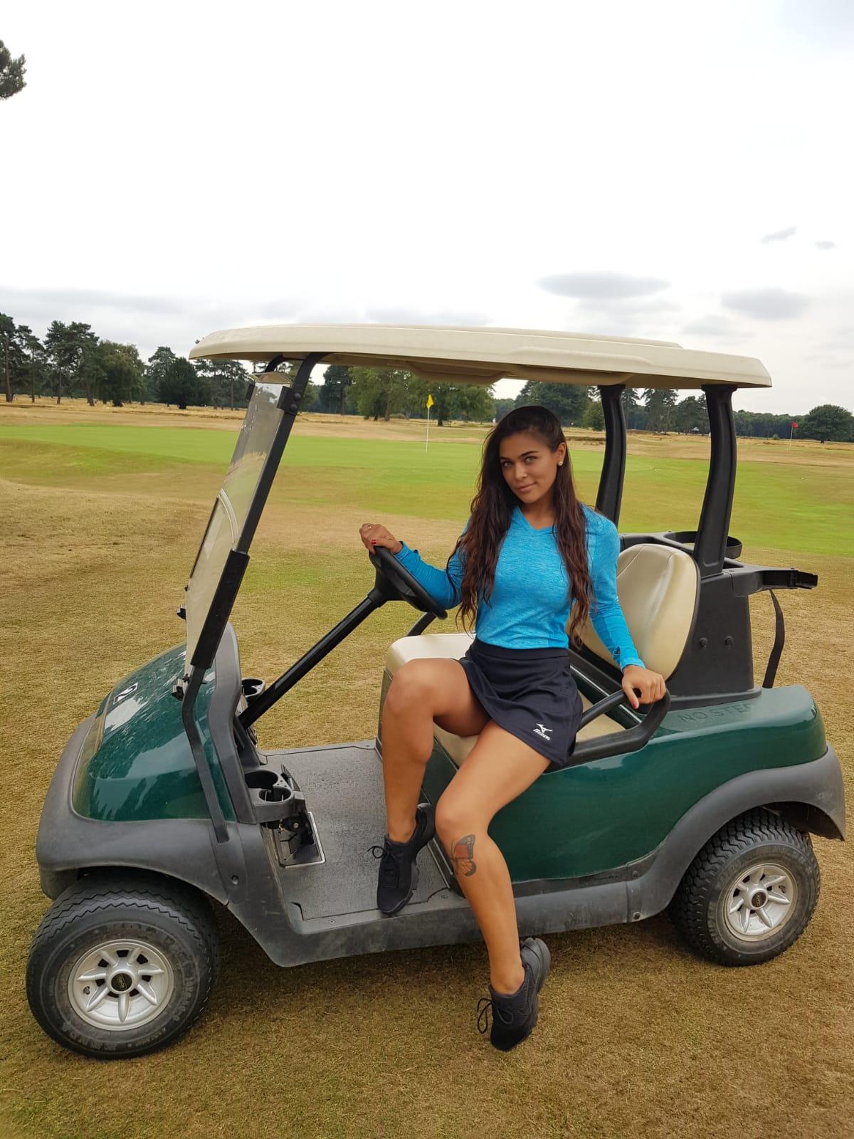 Golf Hostess with Mizuno Golf Pairs at Walton Heath Golf Course on 20th July