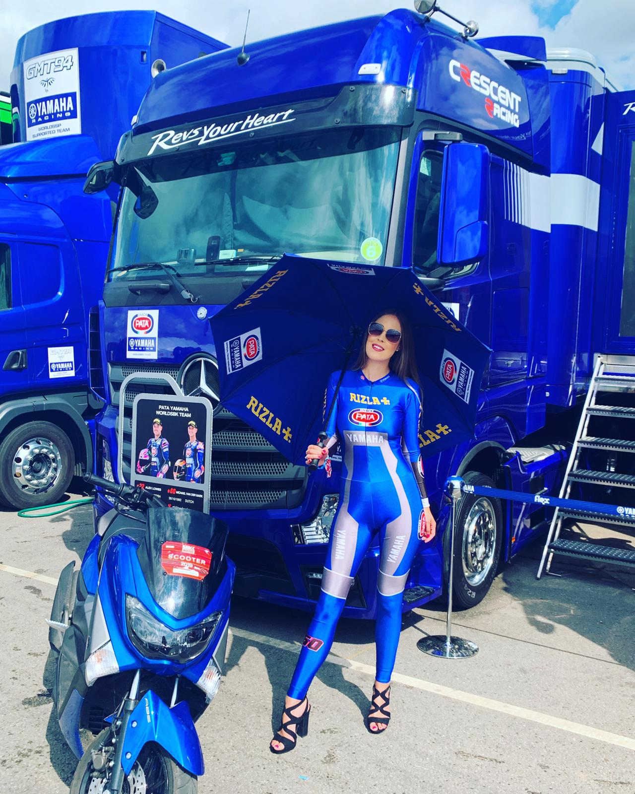 Grid Girls – Rizla Racing – WorldSBK – Donington Park – 6/7th July 2019