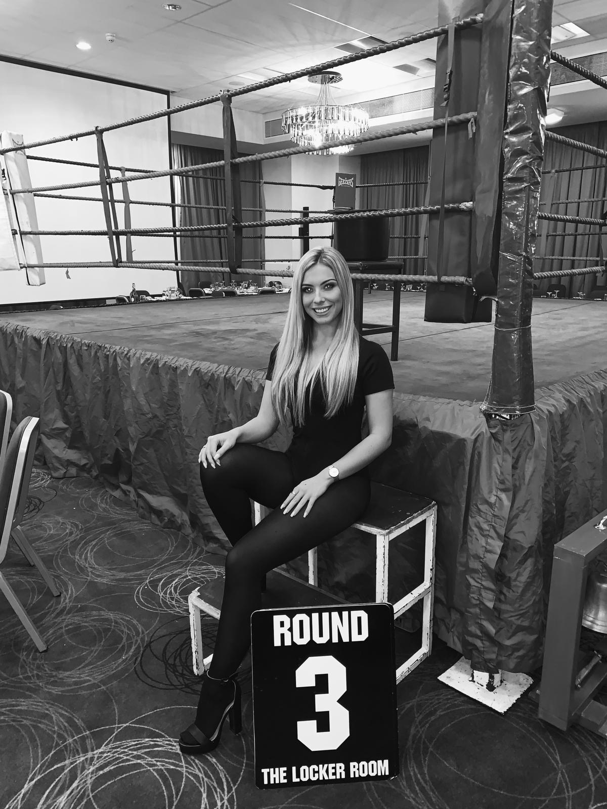 Ring Girls – IBA Boxing – Southend-on-Sea, Essex – 11th October 2019