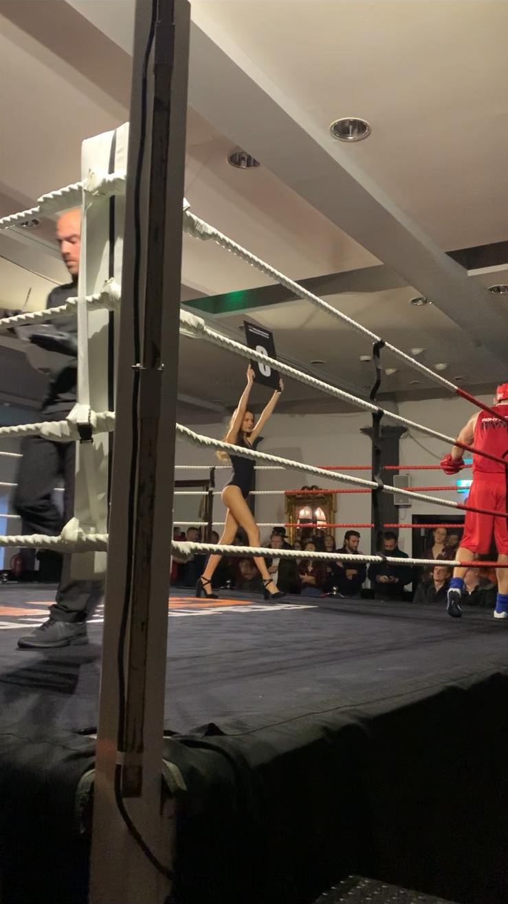 Ring Girls Fight City Gym London Irish Centre 28th Nov 2019 02 2
