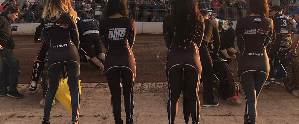 Grid Girls Uk Supplied Speedway Startline Girls