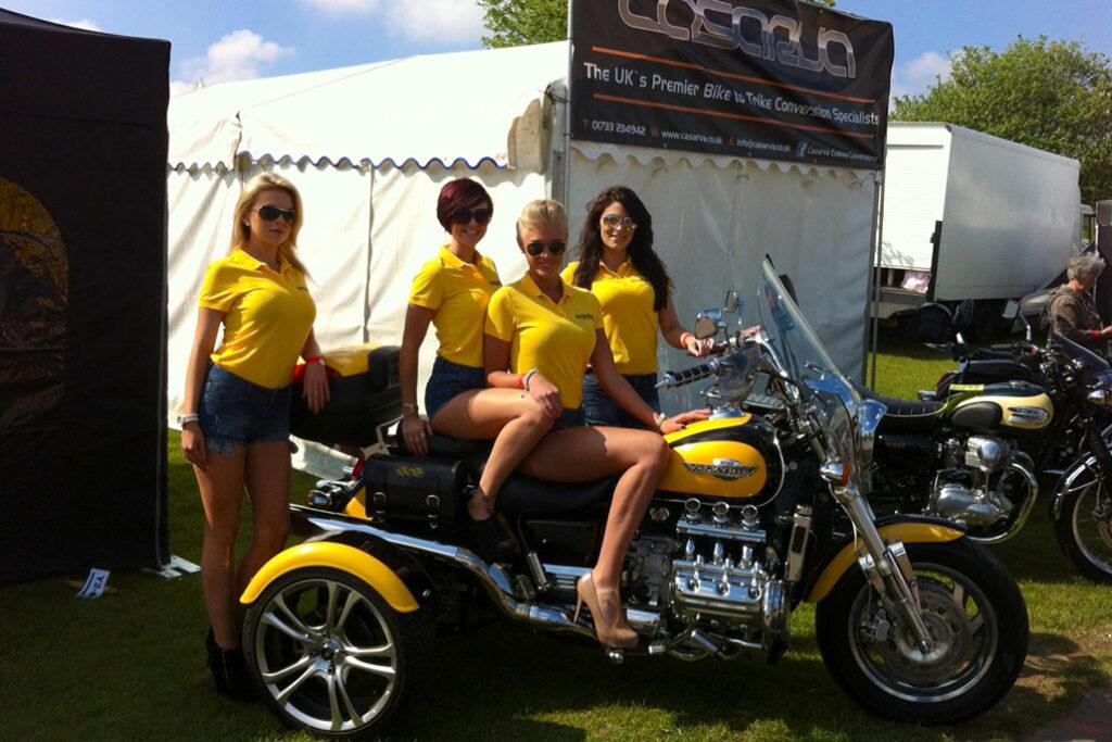 Bike Team At Bmf Show, Peterborough Showground In May 2013