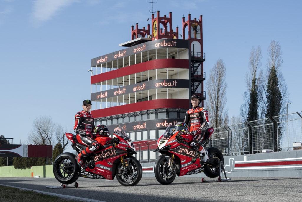 Superbike Aruba Racing Ducati Panigale V4 R Scott Redding Chaz Davies