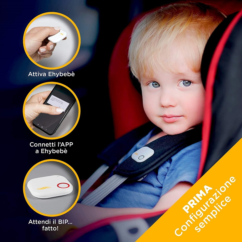 Ehybebè dispositivo anti abbandono bimbi in auto economico