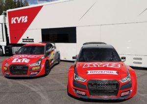 KYB Team JC mondiale Rallycross 2020 ammortizzatori sospensioni
