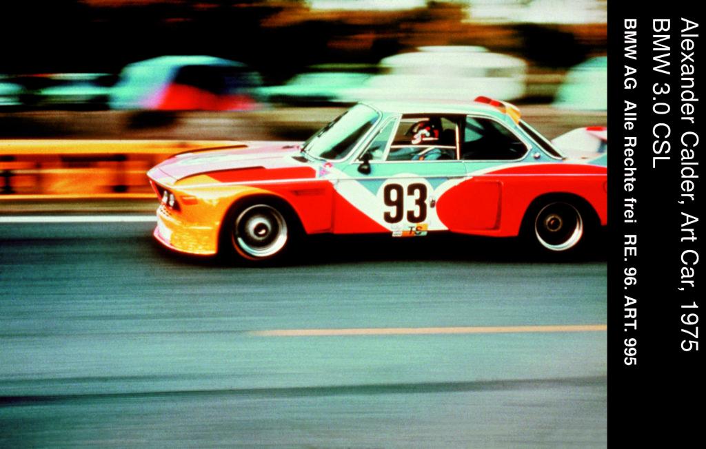 La BMW Art Car #1 alla 24 ore di Le Mans 1975 - Immagine da Archivio BMW