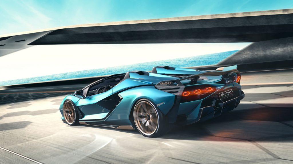 Lamborghini Sián Roadster v12 supercar hypercar ibrida motore ibrido