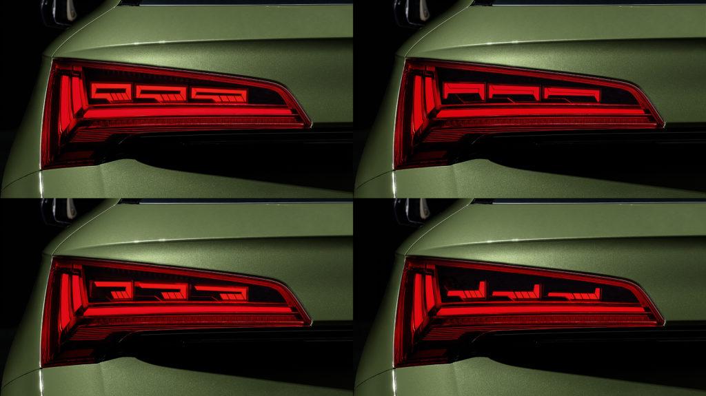 Audi presenta la nuova generazione di gruppi ottici con tecnologia OLED illuminazione Q5