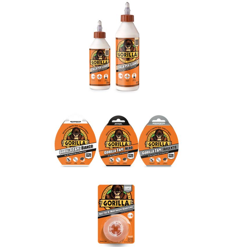 Gorilla Glue Arexons Italia colle nastri super resistenti