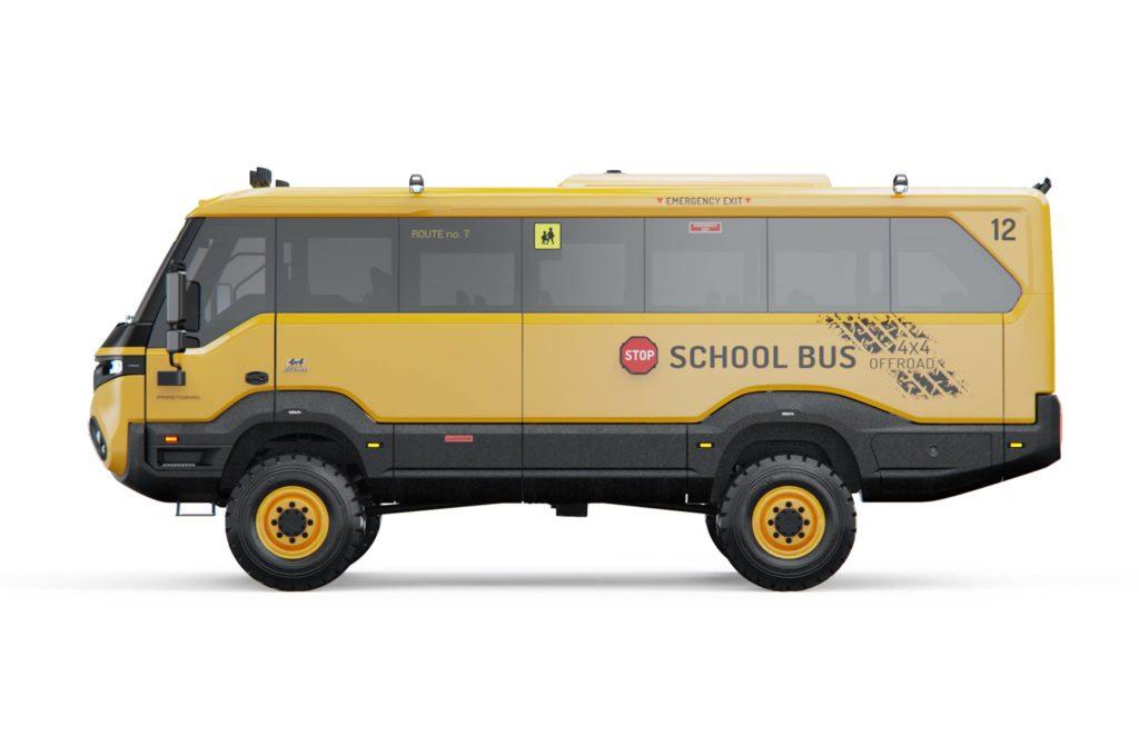 Torsus Praetorian scuolabus gommato Michelin gomme pneumatici