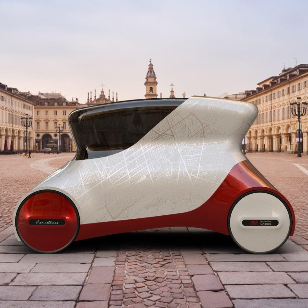 Piemontesina car wrapping contest 3M IAAD Alessandro Ceccon Torino