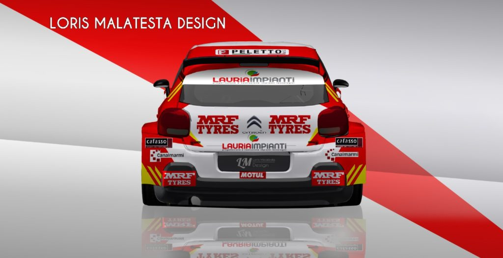 Paolo Andreucci al via del campionato rally terra con i pneumatici MRF