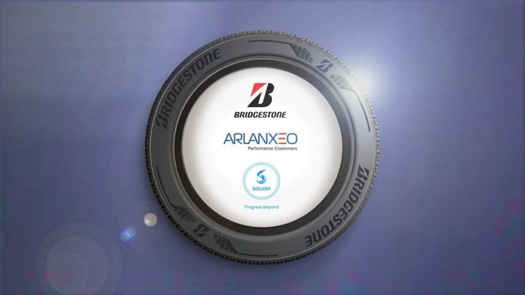 Techsyn Bridgestone, Arlanxeo e Solvay pneumatici lunga durata eco piattaforma prestazioni ambientali materiali silica collaborazione rolling resistance
