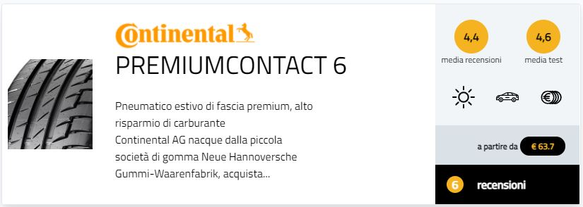 migliori pneumatici estivi 2021 test gomme estive Gute Fahrt 245/40 R18 recensioni opinioni pareri  Continental PremiumContact 6