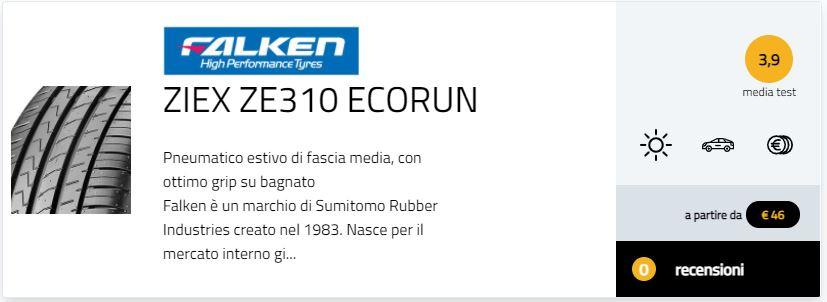 recensioni opinioni pareri  Falken Ziex ZE310 Ecorun migliori pneumatici estivi 2021 test gomme estive Gute Fahrt 245/40 R18