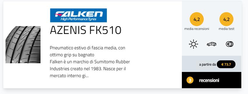 migliori gomme estive 2021 test pneumatici Autozeitung 225/40 R18